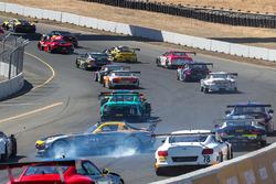 #66 DragonSpeed Mercedes-Benz AMG SLS GT3: Frankie Montecalvo en problemas