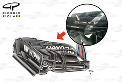 Williams FW38 serrated front wing