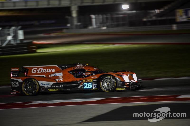 3. LMP2: #26 G-Drive Racing, Oreca 05 - Nissan: Roman Rusinov, Alex Brundle, René Rast