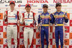 GT500 polesitters #15 Drago Modulo Honda Racing Honda NSX Concept-GT: Hideki Mutoh, Oliver Turvey, GT300 polesitters #18 Team Upgarage With Bandoh Toyota MC86: Yuhki Nakayama, Shinnosuke Yamada