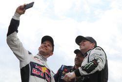 Mattias Ekström, EKS RX; Sébastien Loeb, Team Peugeot Hansen; Petter Solberg, Petter Solberg World R