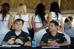 #44 Magnus Racing Audi R8 LMS: John Potter, Andy Lally totally oblivious to their background