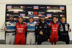 Press conference: Sergey Afanasyev, SEAT Leon, Team Craft-Bamboo LUKOIL, Jean-Karl Vernay, Leopard Racing, Volkswagen Golf GTI TCR, Mikhail Grachev, West Coast Racing, Honda Civic TCR, James Nash, Team Craft-Bamboo, SEAT León TCR, Mato Homola, B3 Racing Team Hungary, SEAT León TCR