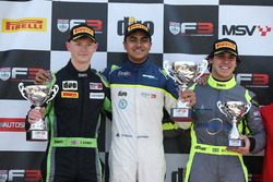 Podium: winner Ricky Collard, Carlin, second place Thomas Randle, Douglas Motorsport, third place Colton Herta, Carlin