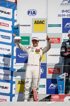 Podium: second place Lance Stroll, Prema Powerteam Dallara F312 – Mercedes-Benz