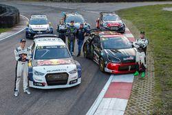 Mattias Ekström, EKS RX Audi S1, Petter Solberg, PSRX Citroën DS3 RX, Johan Kristoffersson, Volkswagen Team Sweden, Andreas Bakkerud, Hoonigan Racing Division Ford, Sébastien Loeb, Team Peugeot Hansen