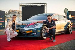 Mark Gemmell and Agustin Paya with the Tesla Model S P85+