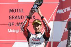 Podium: troisième place Hiroki Ono, Honda Team Asia