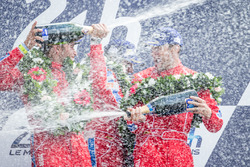 LMGT Am podium: class winners #62 Scuderia Corsa Ferrari 458 Italia: Bill Sweedler, Jeff Segal, Town