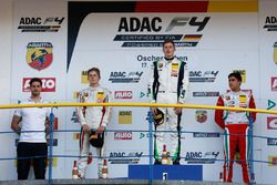 Podium: race winner Kim-Luis Schramm, US Racing, second place Leonard Hoogenboom, Van Amersfoort Rac