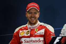 Conférence de presse : le deuxième, Sebastian Vettel, Ferrari