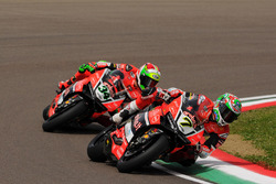 Chaz Davies, Aruba.it Racing - Ducati Team, und Davide Giugliano, Aruba.it Racing - Ducati Team