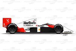 McLaren MP4-5 driven by Ayrton Senna