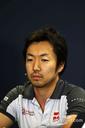 Ayao Komatsu, Haas F1 Team Race Engineer in the press conference