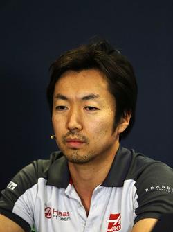 Ayao Komatsu, ingénieur de course Haas F1 Team lors de la conférence de presse