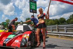 Gridgirl für #38 Performance Tech Motorsports, ORECA FLM09: James French, Kyle Marcelli