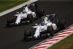 Valtteri Bottas, Williams FW38 et Felipe Massa, Williams FW38