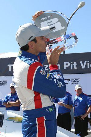 Helio Castroneves, Team Penske Chevrolet pole winner