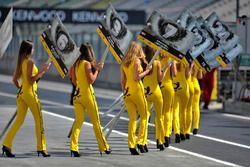pit lane, grid girls