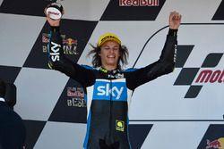 Podium: second place Nicolo Bulega, Sky Racing Team VR46