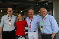 Guenther Steiner, Haas F1 Team Principal; Michela Cerruti, Alfa Romeo Giulietta TCR, Mulsanne Racing