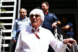 Bernie Ecclestone, Jean Todt, président de la FIA et Christian Horner, Red Bull Racing Team Principal