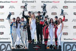 PC podium: Robert Alon, Tom Kimber-Smith, PR1 Mathiasen Motorsports, second place Jon Bennett, Colin
