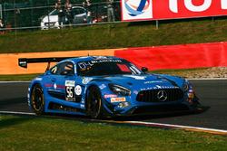 #56 Black Falcon, Mercedes-AMG GT3: Oliver Morley, Miguel Toril, Abdulaziz Bin Turki Al Faisal, Dani