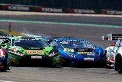 Kaza: #16 GRT Grasser-Racing-Team, Lamborghini Huracán GT3: Luca Stolz, Mirko Bortolotti und #66 At