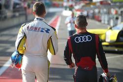 #98 Rowe Racing, BMW M6 GT3: Nicky Catsburg and #6 Audi Team Phoenix, Audi R8 LMS: Christopher Mies