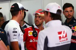 Sebastian Vettel, McLaren on the drivers parade