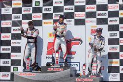 TCB Race 1 podium: Henry Morse, Tom O'Gorman, Will Rodgers