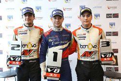 Winner Matthieu Vaxiviere, SMP Racing, second place Tom Dillmann, AVF, third place Alfonso Celis Jr., AVF