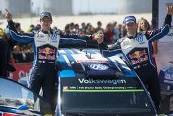 Tercer lugar Sébastien Ogier, Julien Ingrassia, Volkswagen Polo WRC, Volkswagen Motorsport
