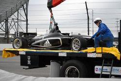 Crash de Zachary Claman DeMelo, Juncos Racing