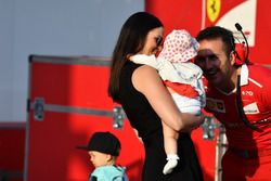 Minttu Virtanen, wife of Kimi Raikkonen, Ferrari, with daughter Rianna Raikkonen