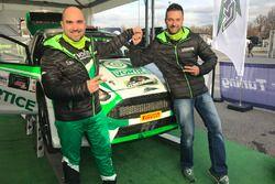Ivan Ballinari con Andrea Sacha Togni al Monza Rally Show