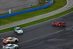 #84 TA3 Dodge Viper: Lee Saunders, #46 TA3 Porsche 991 GT3 Cup: Mark Boden of Fall Line Motorsports,