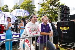 Neel Jani,, Dragon Racing, Sam Bird, DS Virgin Racing, observan la eRace