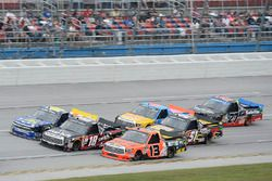 Cody Coughlin, ThorSport Racing Toyota, Noah Gragson, Kyle Busch Motorsports Toyota, Clay Greenfield, Titan Paint Sprayers Chevrolet Silverado, Myatt Snider, Kyle Busch Motorsports Toyota, Chris Fontaine, Glenden Enterprises Toyota Tundra