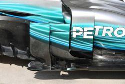 Mercedes-Benz F1 W08 barge board detail