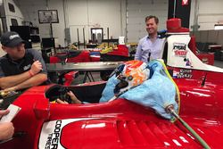 Rinus van Kalmthout seat fitting at Belardi Auto Racing