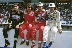 1986 World Championship contenders, Ayrton Senna, Lotus, Alain Prost, McLaren, Nigel Mansell, Willia