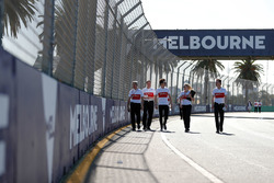 Track walk with Charles Leclerc, Sauber