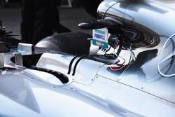 Mercedes F1 W08: Luftauslass neben dem Cockpit