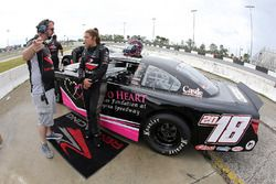 2017 NASCAR Drive for Diversity Combine participant Macy Causey waits