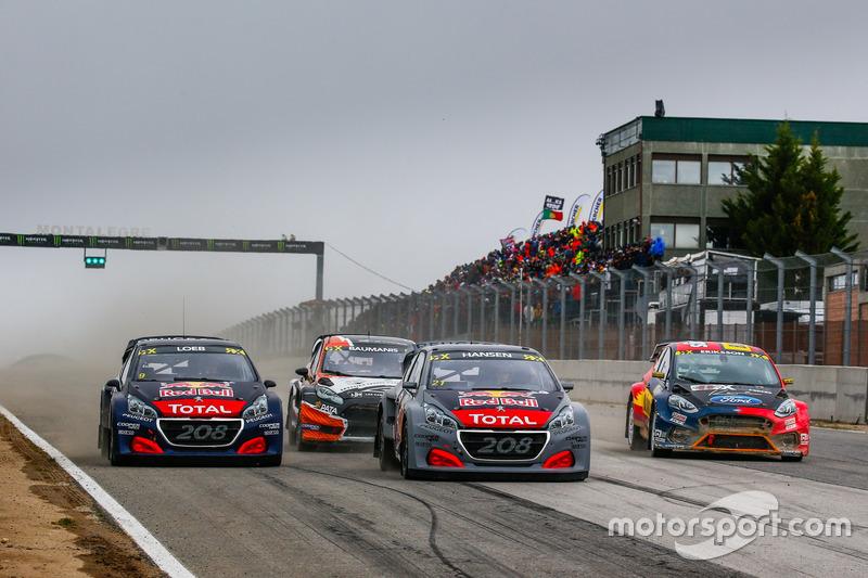 Timmy Hansen, Team Peugeot Total, Sébastien Loeb, Team Peugeot Total, Kevin Eriksson, Olsbergs MSE