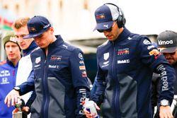 Max Verstappen, Red Bull Racing, and Daniel Ricciardo, Red Bull Racing, in the drivers parade
