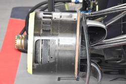 Detalle de los frenos delanteros del Red Bull Racing RB14
