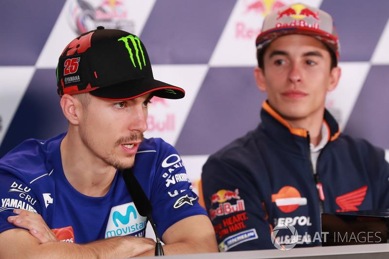 Conferencia de prensa: Maverick Viñales, Yamaha Factory Racing, Marc Márquez, Repsol Honda Team